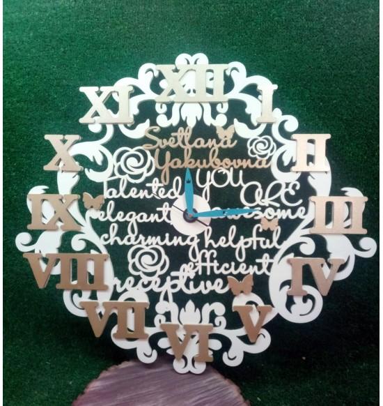 Декоративные именные часы