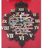 Декоративные часы с короной