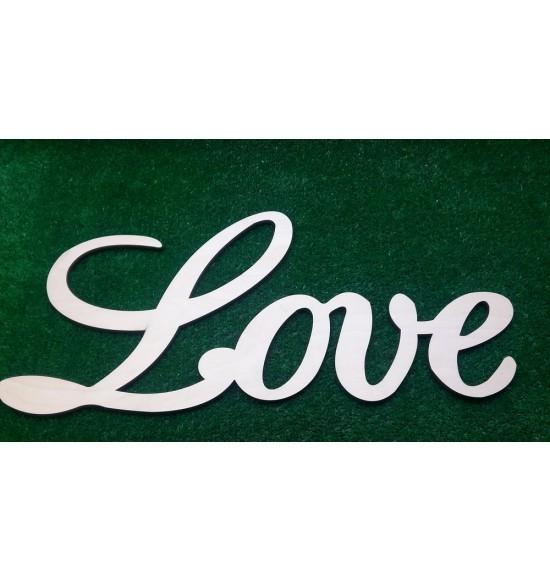 "Слово для фотосессии ""Love"" с завитушками"