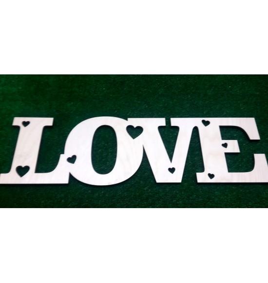 """Слово для фотосессии """"Love"""" в сердечках"""