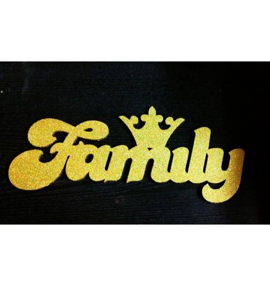 """Слово для фотосессии """"Family"""" с короной"""
