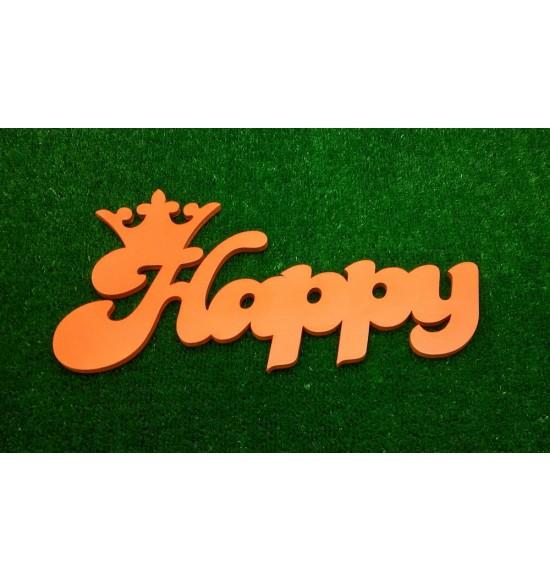 """Слово для фотосессии """"Happy"""" с короной"""