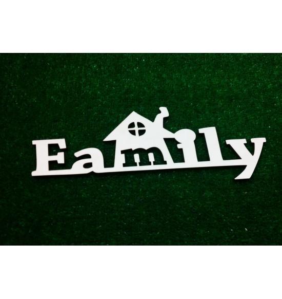 """Слово для фотосессии """"Family"""" с домиком"""