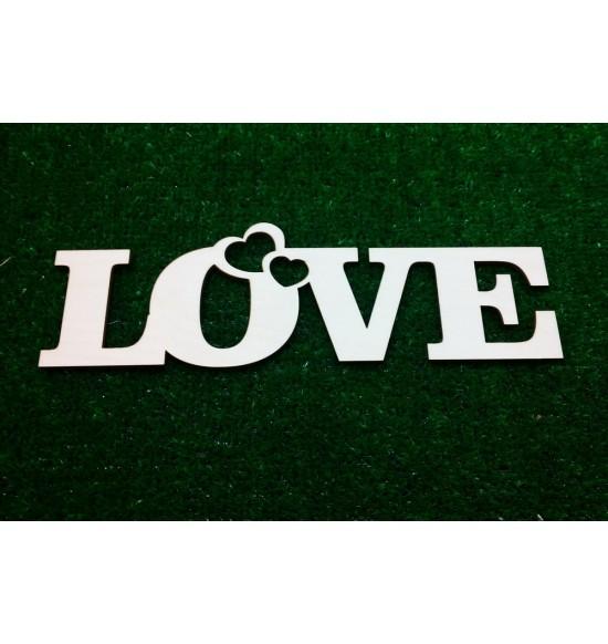 """Слово для фотосессии """"Love"""" с сердечками"""